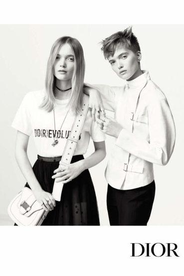 新任设计师接掌后的首季广告:双胞胎名模May &Ruth Bell演绎Dior 2017春夏广告